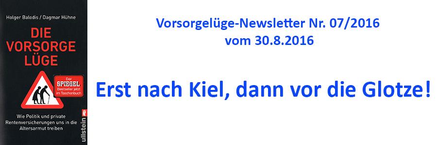 """""""Vorsorge-Newsletter"""": Erst nach Kiel, dann vor die Glotze!"""