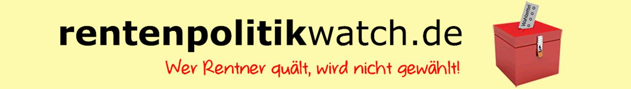 Die Internetseite www.rentenpolitikwatch.de wurde gestartet.