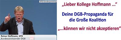 Protestbrief gegen die GroKo-Propaganda des DGB