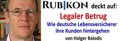 Legaler Betrug – wie deutsche Lebensversicherer ihre Kunden hintergehen