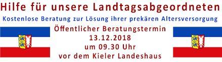 Hilfe für schleswig-holsteinische Landtagsabgeordnete in Not