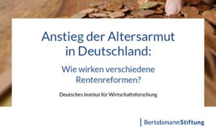 Bertelsmann-Stiftung definiert Altersarmut neu!