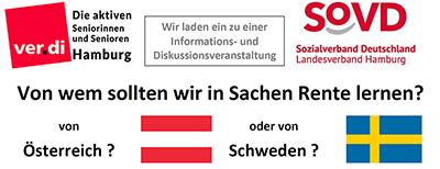 Veranstaltung am 7.9.21 in Hamburg: Von wem in Sachen Rente lernen – Österreich oder Schweden?