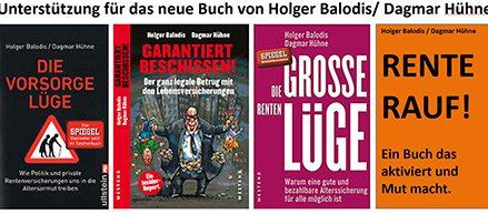RENTE RAUF! ein neues Buch von Balodis/Hühne