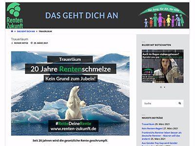 Bitte weitersagen: www.renten-zukunft.de ist ab den 31. März online.